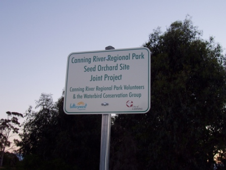 Signage for Seed Orchard project site